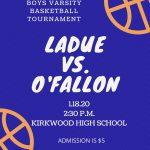 Varsity Boys Basketball-Tournament Update