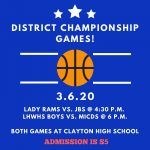 DISTRICT BASKETBALL!
