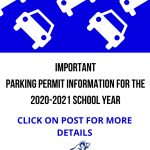 Parking Information for the 2020-2021 School Year