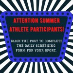 LHWHS Summer Athlete Screening Forms!