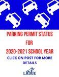 Parking Permit Status 2020-2021
