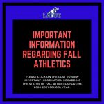 URGENT FALL ATHLETICS & ACTIVITIES INFORMATION