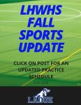 LHWHS Fall Athletics Update -Week #2