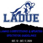 LHWHS Competitions & Updated Spectator Guidelines, Oct. 12-17, 2020