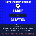 LHWHS vs. Clayton-District Soccer Championships-Nov. 3