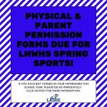 LHWHS SPRING ATHLETIC PAPERWORK DUE!