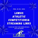LHWHS Athletic Posts and Streaming Links-Feb. 15-20