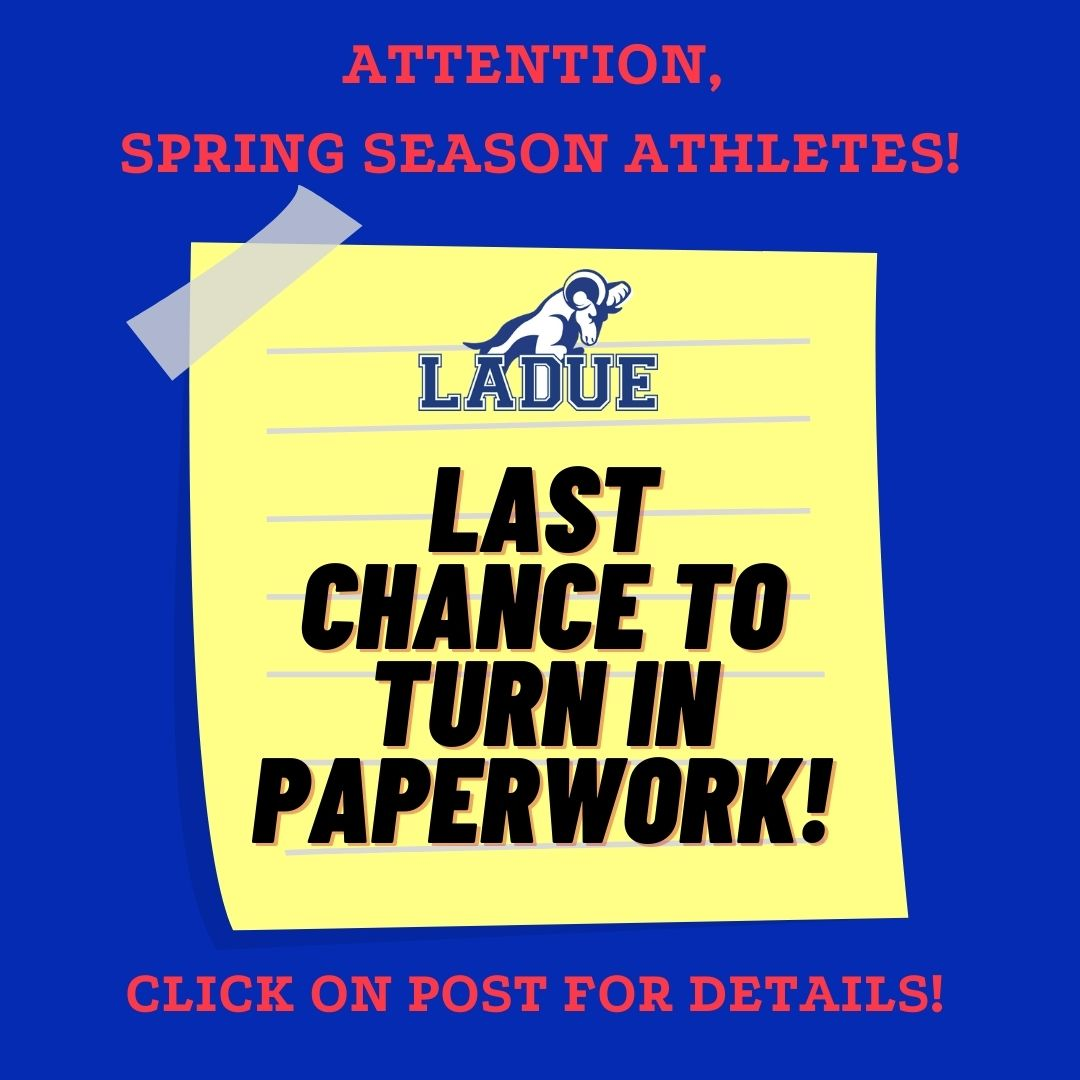 LAST CHANCE TO PICK UP SPRING PARTICIPATION SLIP!