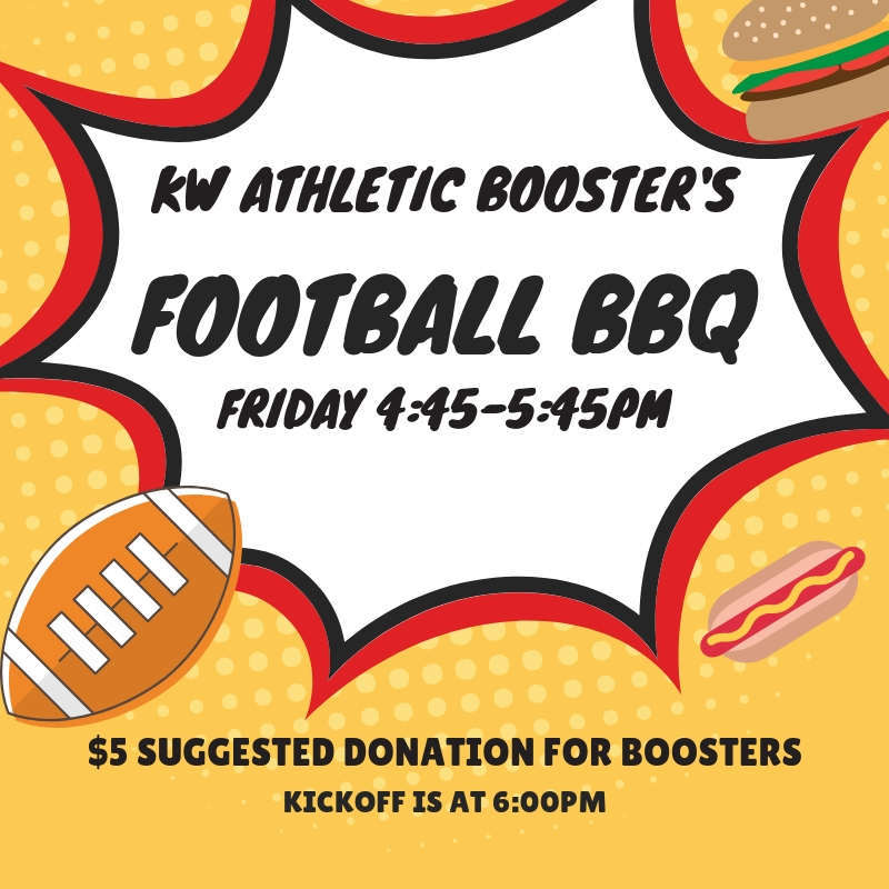 KW Booster's Football Tailgate FRIDAY