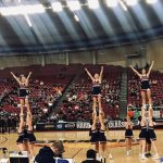 Varsity Cheer at State cheering on our Knights!