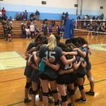 8th Grade Volleyball with the Win!