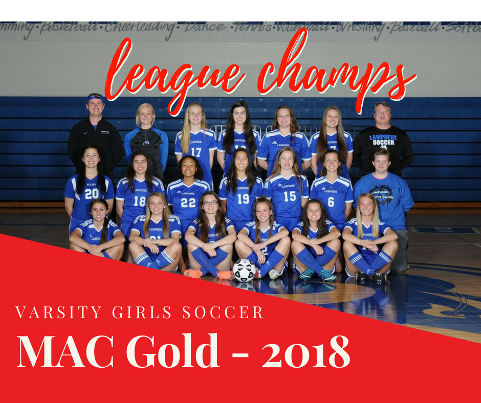 Varsity Girls Soccer – 2018 MAC Gold LEAGUE CHAMPS