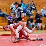 Varsity Wrestling Splits with Bridgeport and Garber