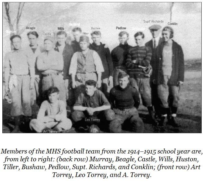 1914 – Millington's first football team
