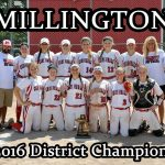 Millington High School Varsity Softball beat New Lothrop High School 16-0 to win the District Championship