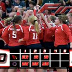 Millington High School Girls Varsity Volleyball falls to Caro HS 3-0