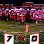 Millington High School Varsity Football beat vs Hemlock HS 7-0