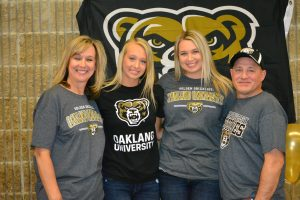 Pictures – Hannah Hall signing with Oakland University