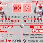 Boys Varsity Baseball falls to Caro 9 – 7