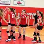 Girls Freshman Volleyball beats Caro 3 – 0