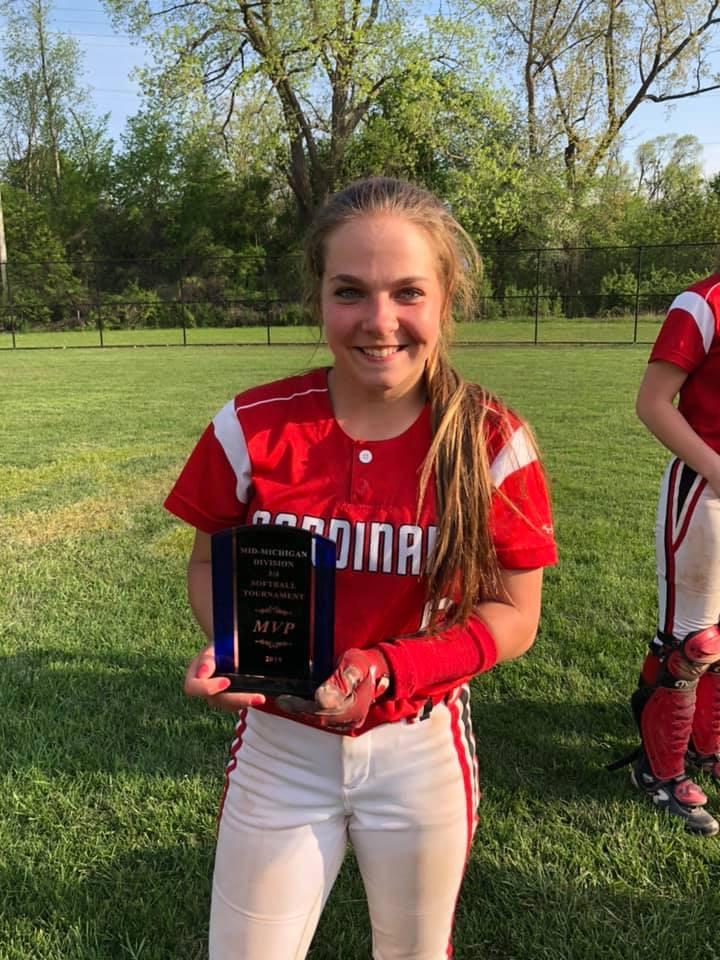 Ziel's perfection helps JV softball sweep Standish