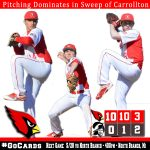 Pitching dominates in sweep of Carrollton