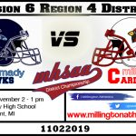Millington announces Day and Time for playoff game