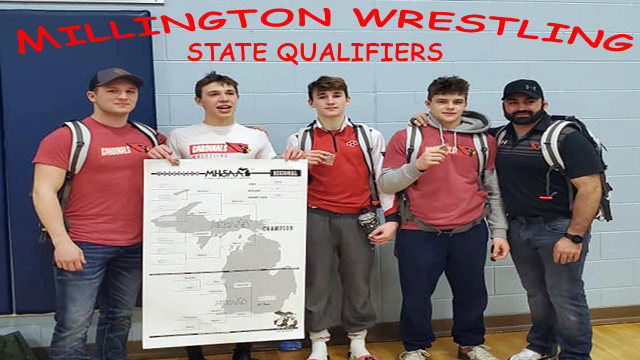 Millington sends 3 to Individual Wrestling State Championships