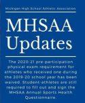 2020-2021 MHSAA Health Questionnaire