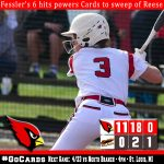 Milington pounds out 42 hits in sweep of Reese