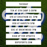 Tuesday Schedule: Four Sports on the Road