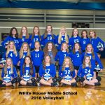 White House Middle Volleyball Team Photo 2018