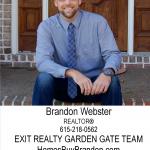 Thank you Brandon Webster (new sponsor)!