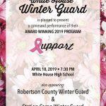 Winter Guard showcase at WHHS Thursday 7:30 p.m.
