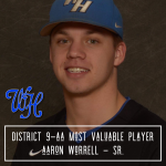 Baseball: Worrell named All-District 9-AA MVP