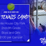 Sign up now for WH Tennis Camp (Grades 2-8) June 18-22