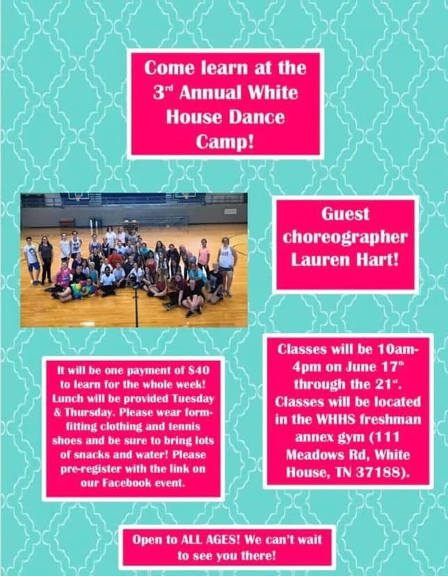 White House Dance Camp begins Monday (link to register)