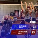 Volleyball: White House controls East in final three sets