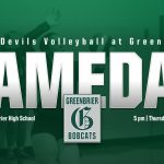 Volleyball: Lady Devils at Greenbrier, Thursday 5 pm