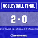 Volleyball: Devils go 2-1 at Coyote Clash Saturday, Monday's game cancelled