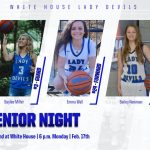 Senior Night Schedule for Basketball Boys/Girls Monday