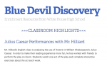 Blue Devil Discovery Newsletter: April 20-27th