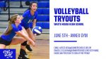 Volleyball Tryouts set for June 5th