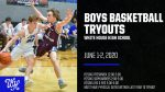 Boys Basketball Tryouts June 1-2 (time slots adjusted)