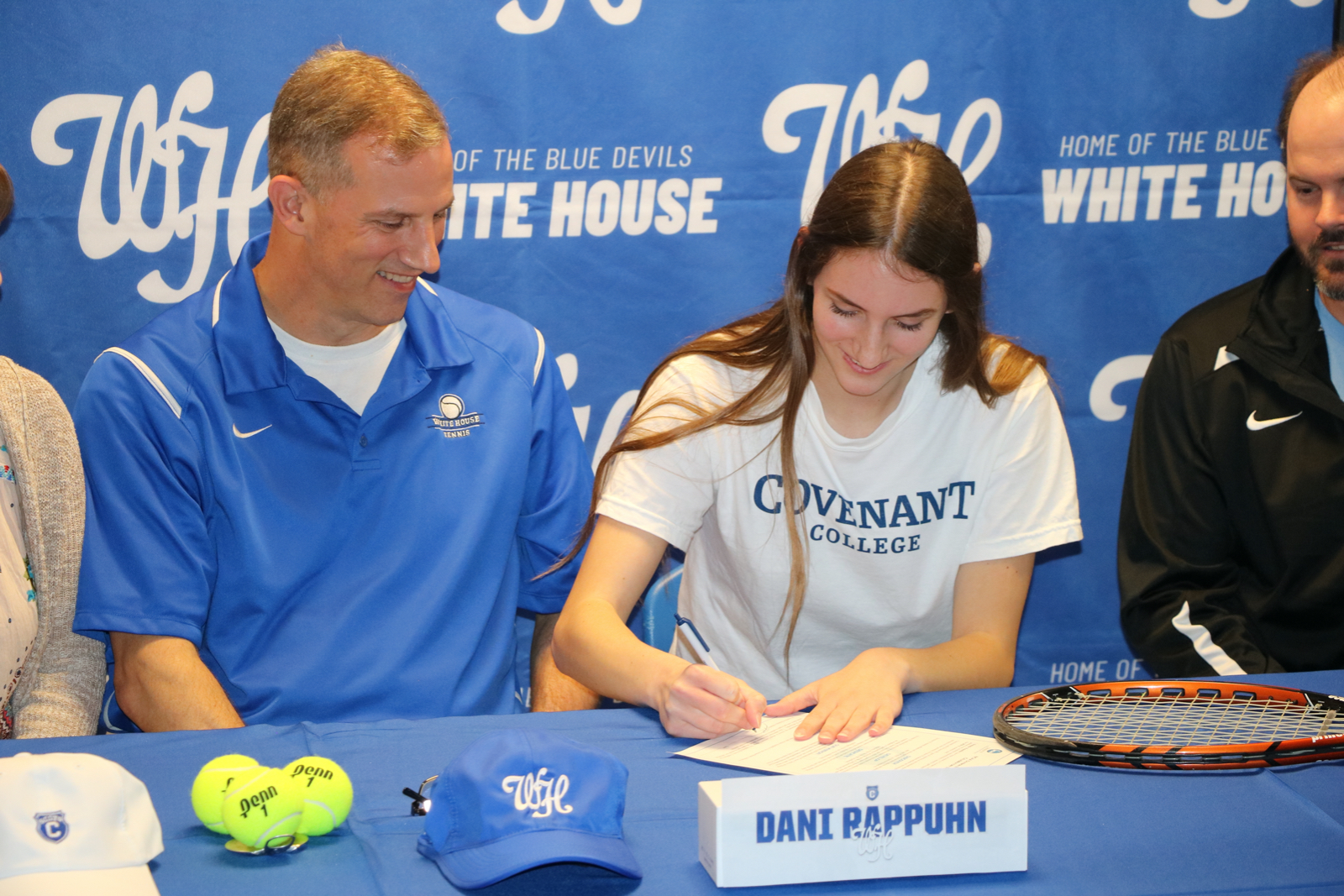 Tennis Photos: Rappuhn signs with Covenant College