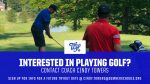 Golf: Interested in Joining Team? Contact the coach!