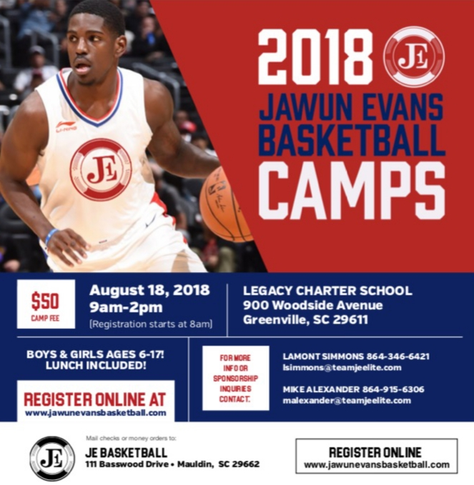 2018 Juwan Evans Basketball Camp at Legacy Early College