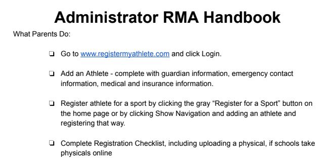 Attention Spring Sports Athletes: Physical Information