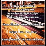 3 LEC Scholar Athletes Sign LOI During Early Signing Period