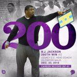 Coach Jackson Earns 200 Win at Legacy